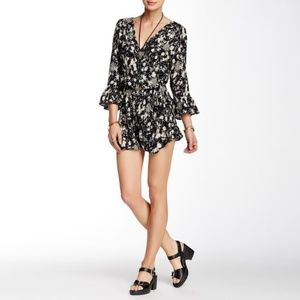 Free People All The Right Ruffles Romper - S
